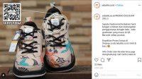 Penampakan sepatu batik Denny Cagur. (Instagram/@sebatik.co.id)
