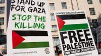 Demonstrasi massa pro Palestina di London (11/5). Foto: Ruptly TV