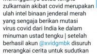 Kicauan soal kabar Tengku Zul dibunuh. Foto: Twitter
