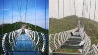 Jembatan Kaca Cina Hancur Diterpa Angin, Wisatawan Terjebak di Tengahnya