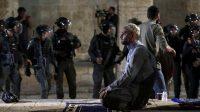 Israel serang Al-Aqsha. Foto: Antara