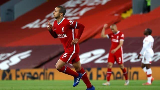 Setelah 26 Laga & 1843 Menit, Thiago Akhirnya Cetak Gol Pertamanya Untuk Liverpool - Gilabola.com