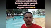 Viral wakil rakyat liburan ke Pantai (TikTok/dederohanaputra)