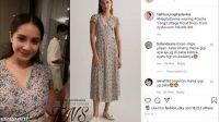 Dress cantik Nagita Slavina saat hamil. (Instagram/@fashion_nagitaslavina)