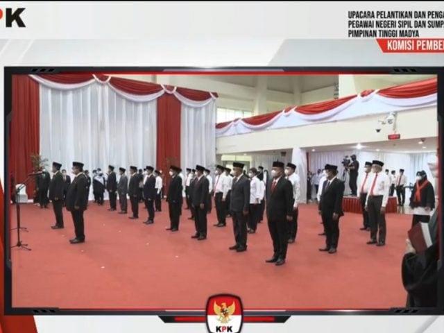Sah! 1.271 Pegawai KPK Resmi Menjadi ASN