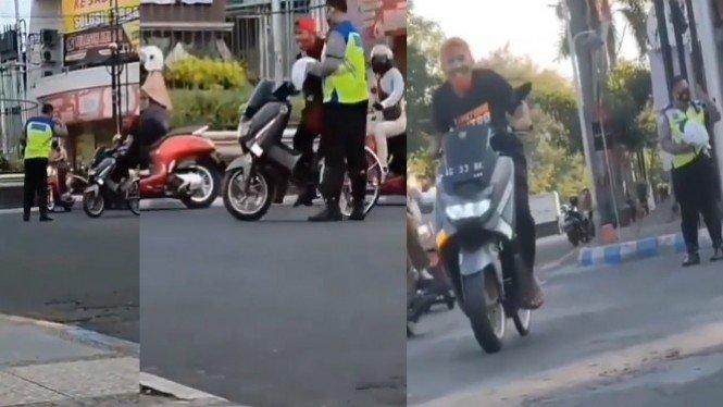 Viral motor Ini tak Jadi ditilang polisi (Instagram/energisolo)