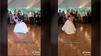 Dansa dengan Suami di Pernikahan, Wanita Ini Malah Alami Cedera Lutut (tiktok.com/@liz_richter)