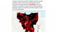 Hoax! Peta Sebaran Covid-19 di Jakarta Masuk Zona Merah dan Hitam