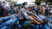Kasus Covid-19 Melonjak, Stok Oksigen di Myanmar Langka