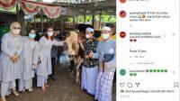 Potret Ayu Ting Ting rayakan Idul Adha pakai sandal mahal. (Instagram/@ayutingting92)