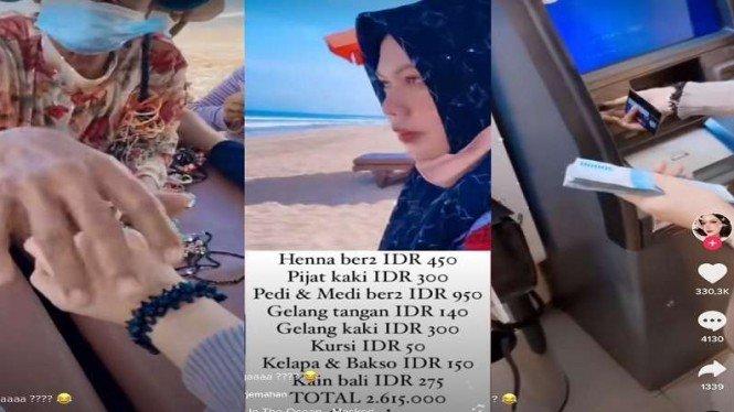 Viral pijat di pantai Bali bayarnya Rp2,6 juta