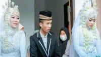 Viral Pria Nikahi 2 Wanita Sekaligus di Depan Rumah (Instagram/omg.indonesia.id)