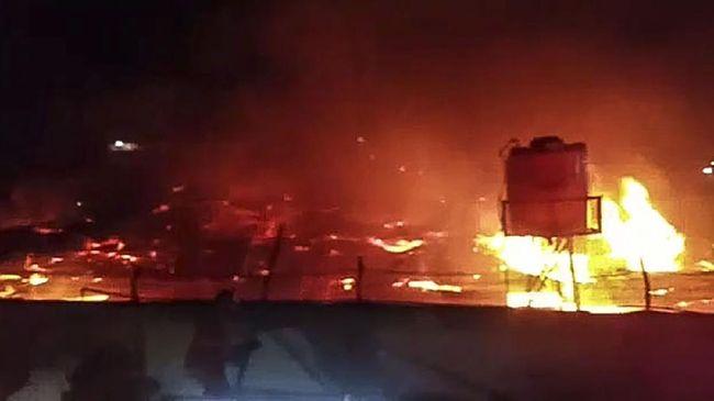 Lapas Tangerang Kebakaran. Foto: Twitter.
